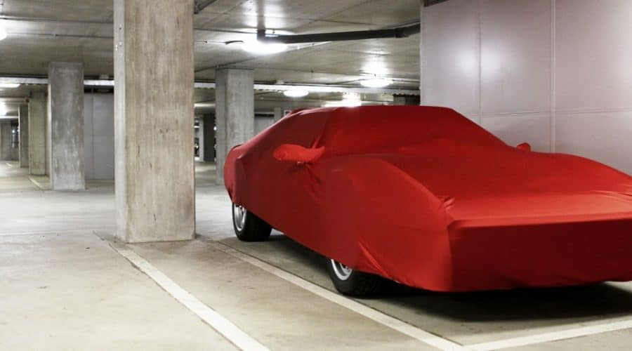 Sports Car in Storage under a Cover